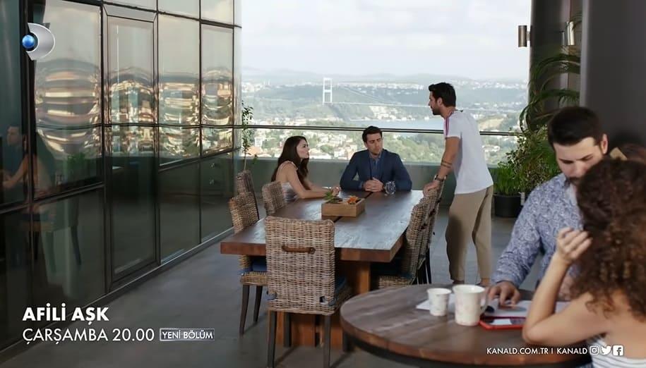 Afili Aşk Boğaz köprüsü manzaralı ofis neresi