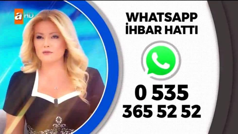 Müge Anlı Whatsapp ihbar iletişim hattı