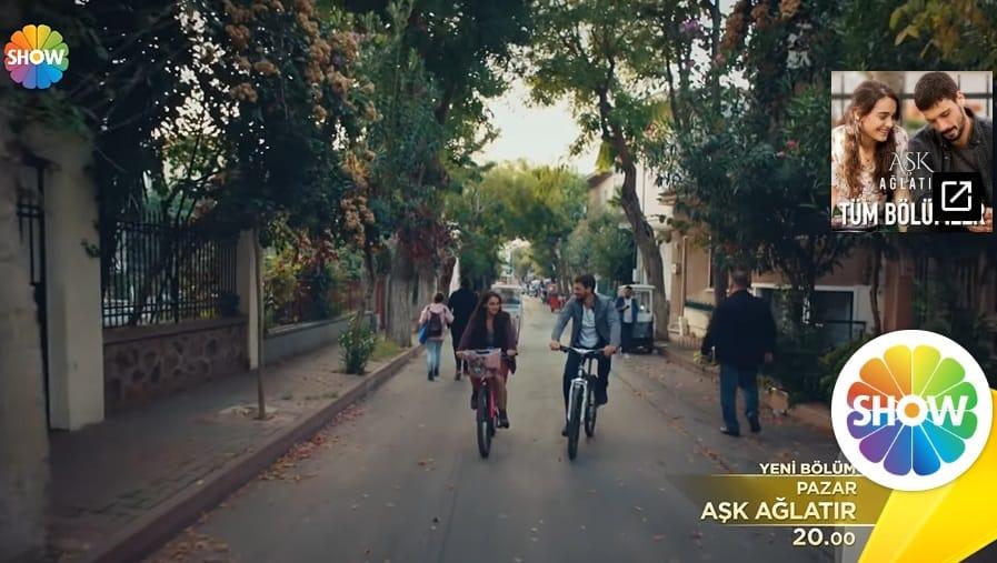 20 Ekim Aşk Ağlatır Ada ve Yusuf bisikletle nerede gezdiler