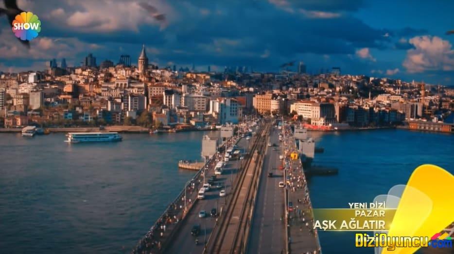 Aşk ağlatır dizisi İstanbul Galata Köprüsünde çekiliyor