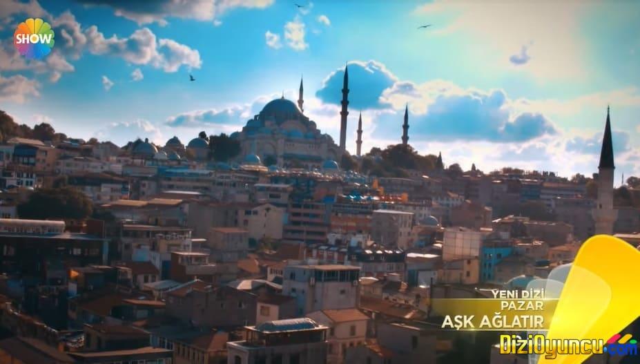 Aşk ağlatır dizisi İstanbulda Eminönü ve Sultanahmette çekimleri yapılıyor