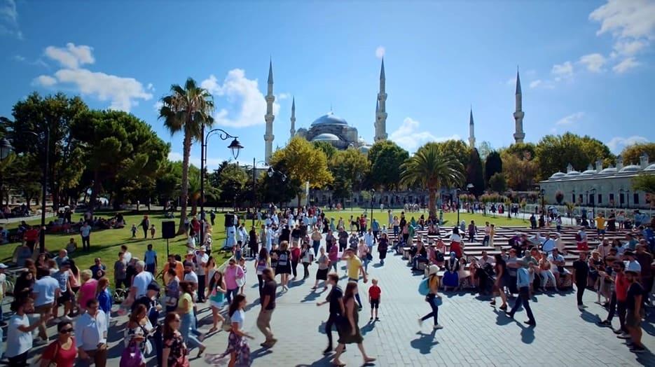 Çocuk Dizisi İstanbulda Sultanahmet meydanında çekildi