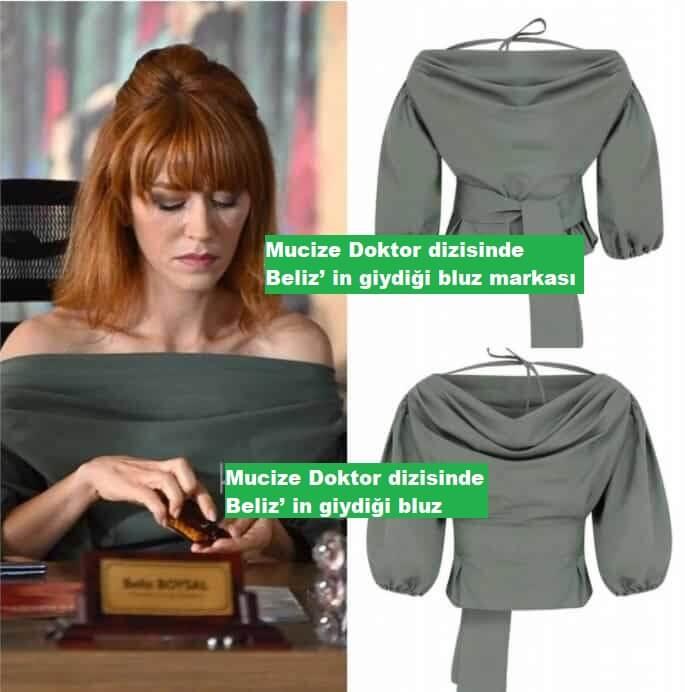 Mucize Doktor dizisinde Beliz' in giydigi bluz markasi
