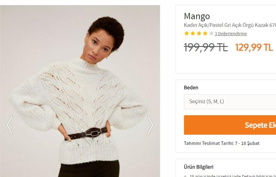 Nazlının kazağı marka modeli fiyatı