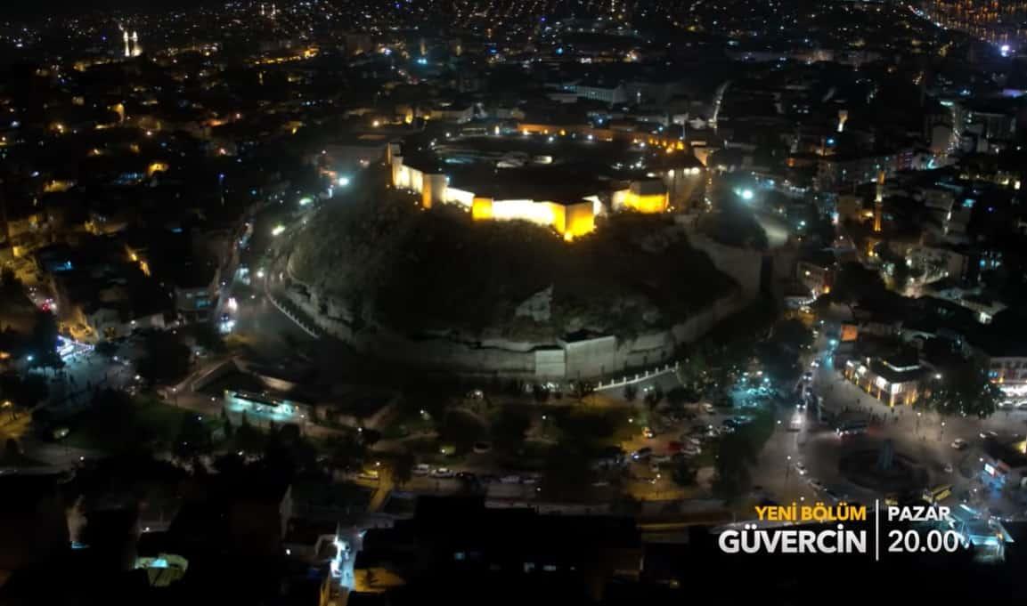 Güvercin dizisinin çekildiği Gaziantep gece görünüşü