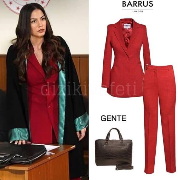 Doğduğun Ev Kaderindir Zeynep'in giydiği kırmızı kıyafet Barrus