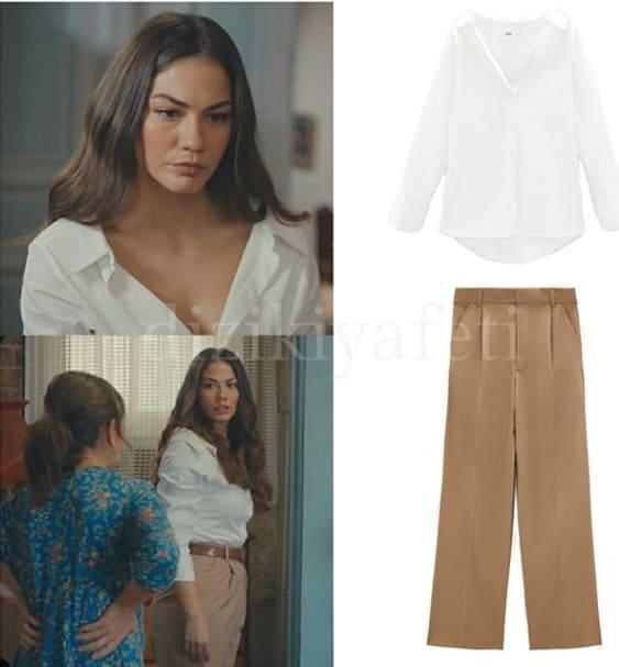 Doğduğun Ev Kaderindir dizisinde Zeynep'in giydiği Gömlek ve Pantolon
