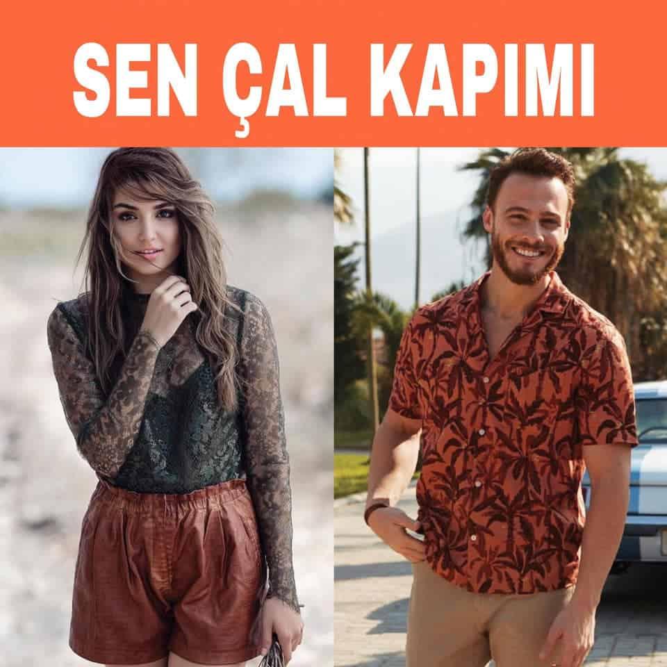 Sen Çal Kapımı oyuncuları Hande Erçel ve Kerem Bursin