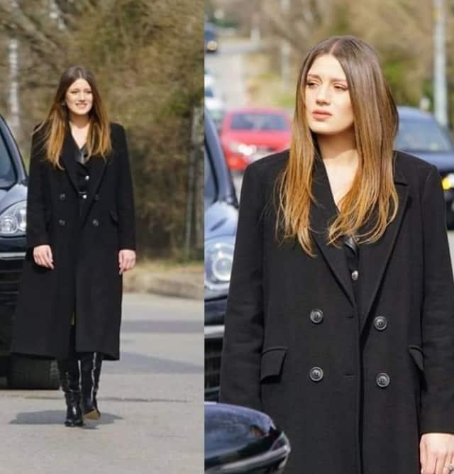 16 Şubat Baraj dizisi Bahar'ın giydiği kaban markası