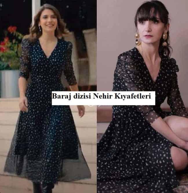 Baraj dizisinde Nehir' in giydigi elbise markasi