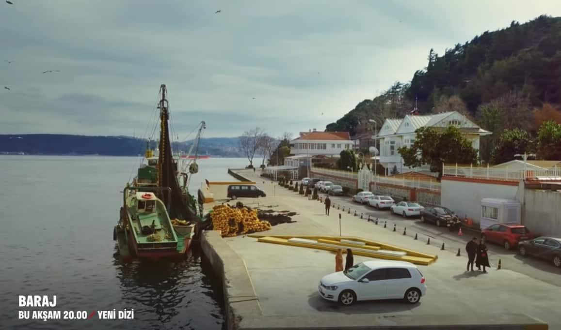 Baraj dizisinin çekildiği yer İstanbul boğazı