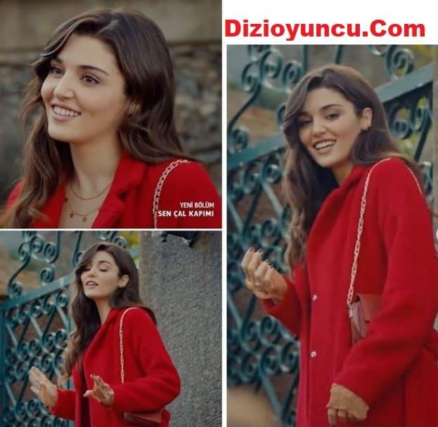 16 Ocak Sen Çal Kapımı Eda'nın giydiği kırmızı kaban markası
