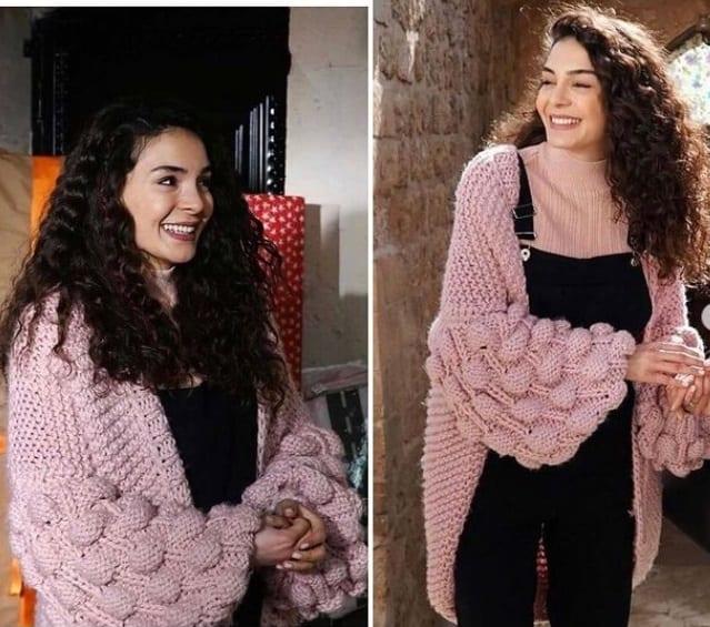 21 Şubat Hercai dizisi Reyyan'ın kıyafetleri hırka markası