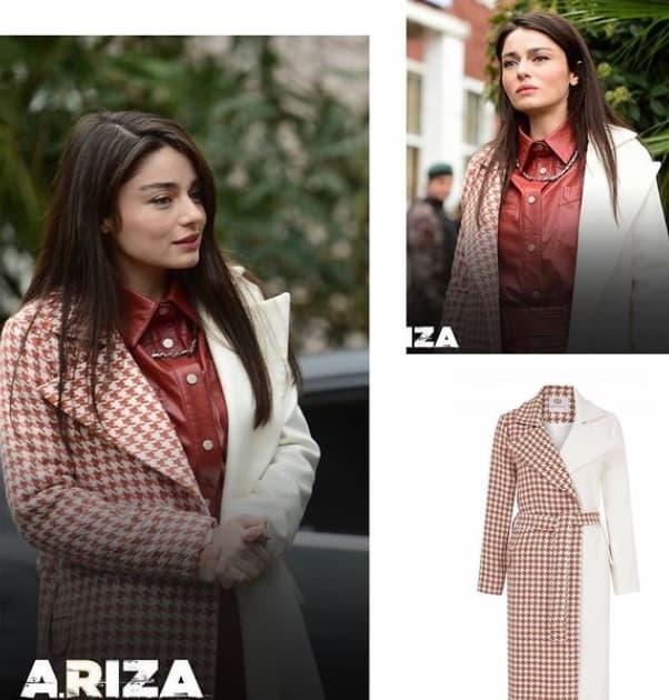 24 Ocak Arıza Dizisi Halidenin giydiği çift renkli kaban