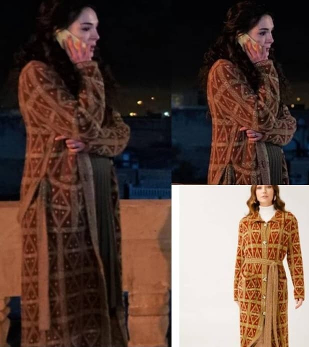 7 Şubat Hercai dizisi Reyyanın giydiği kahverengi hırka