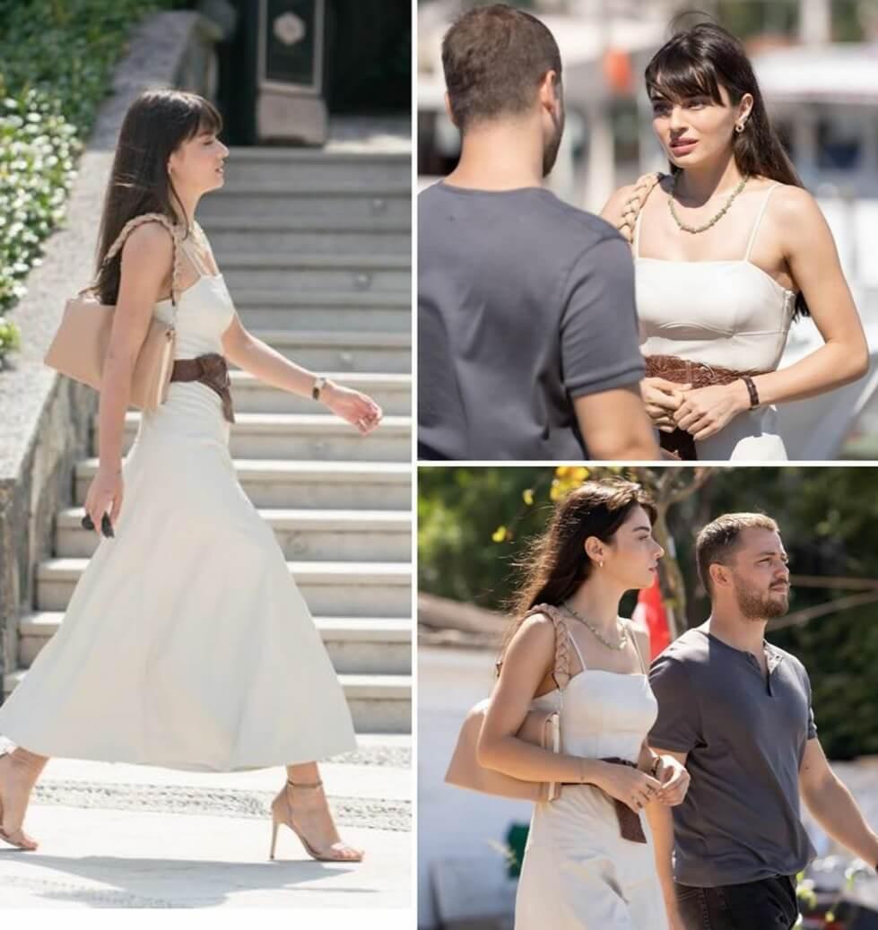 Ariza dizisi Halide'nin beyaz kiyafeti elbisesi