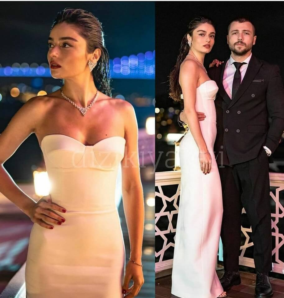 Ariza dizisinde Halide'nin giydigi beyaz elbise
