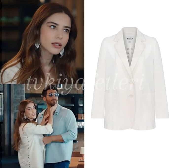Bay Yanlış Ezginin beyaz ceket markası