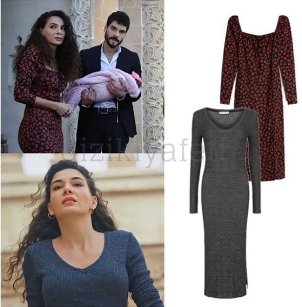 Hercai dizisinde Reyyan'ın çiçekli elbisesi Fiyatı
