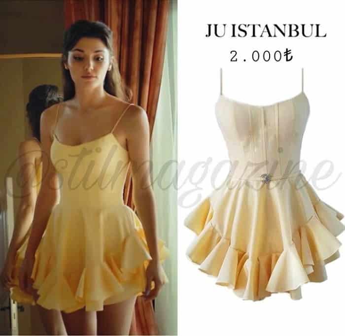 Sen Çal Kapımı Edanın giydiği sarı elbise