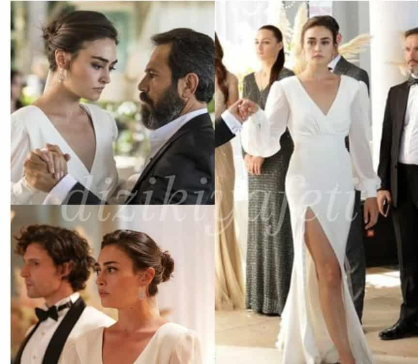 esra bilgic sibel ramodaki beyaz elbisesi