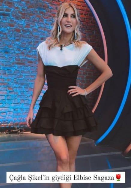 Çağla Şikelin giydiği elbise modeli