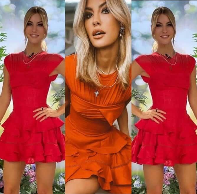 Çağla Şikelin programda giydiği elbise markası