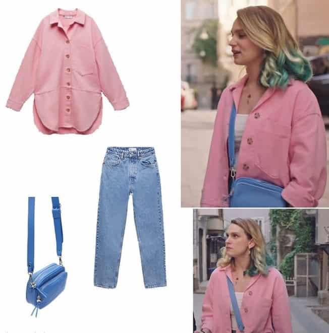 18 Mayıs Masumlar Apartmanı İncinin giydiği gömlek pantolon çanta