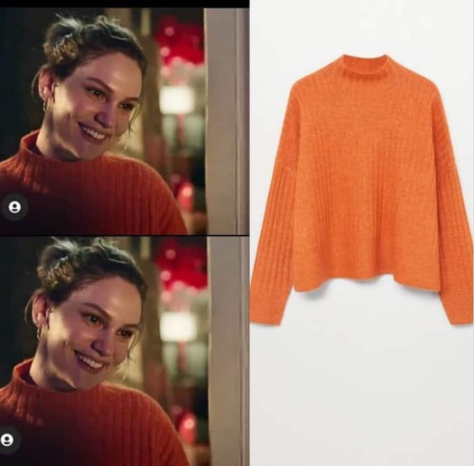 9 Şubat Masumlar Apartmanı İnci'nin giydiği turuncu kazak
