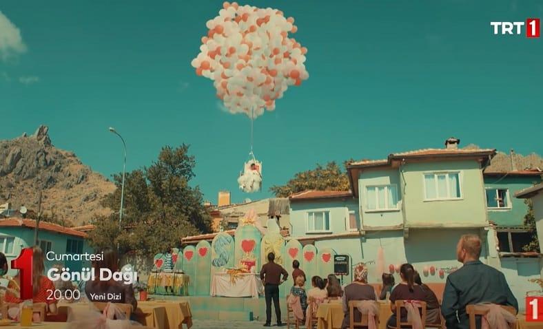 Gönül Dağı dizisi gelinin balonla uçtuğu yer neresi