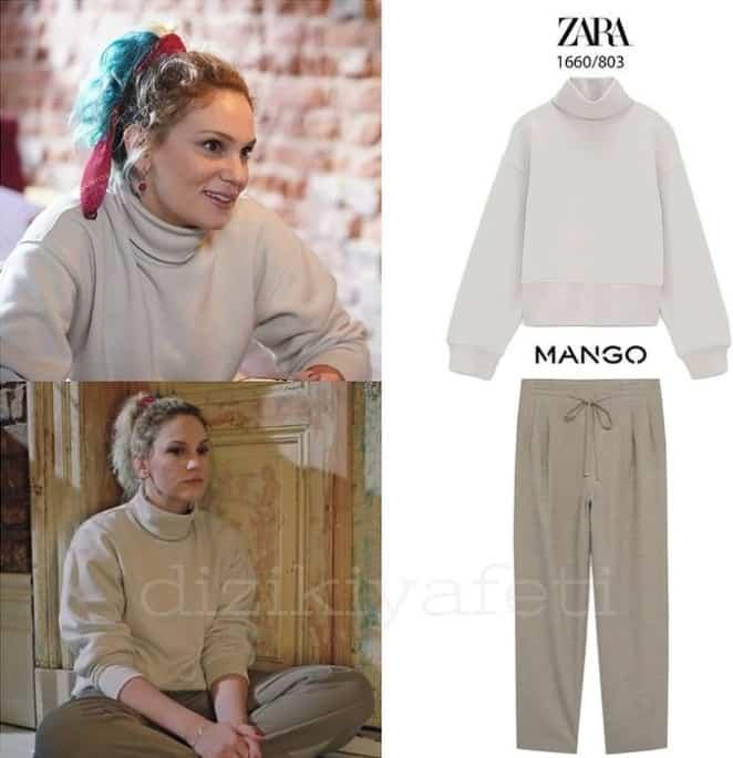 İnci'nin Masumlar Apartmanı dizisinde giydiği Kazak Pantolon mont