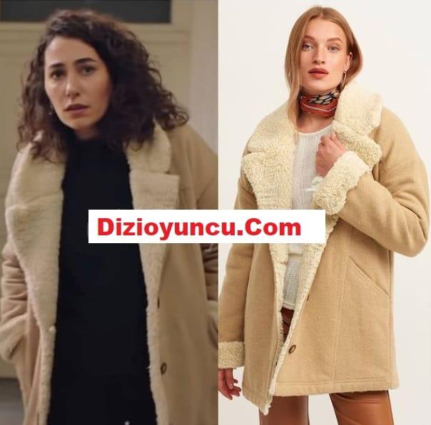 Masumlar Apartmanı dizisinde Esra'nın giydiği kürk kaban