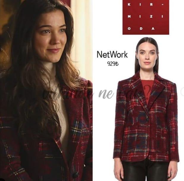 Pınar Deniz Kırmızı Oda kıyafetleri ceket takım kombini
