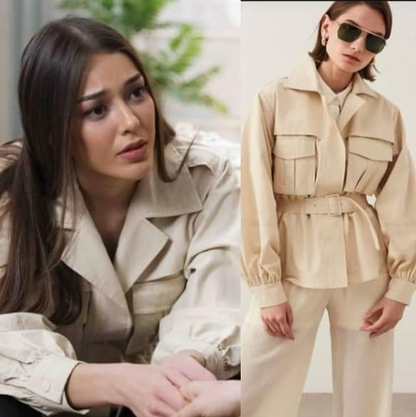 Alev Alev dizisi Rüya'nın giydiği bej rengi ceket