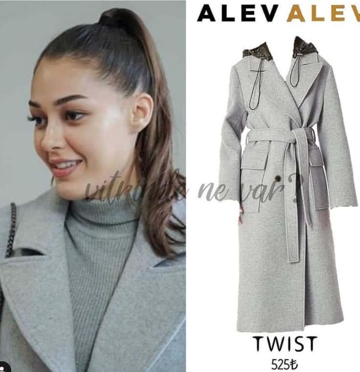 Alev alev dizisinde Rüya'nın giydiği kaban