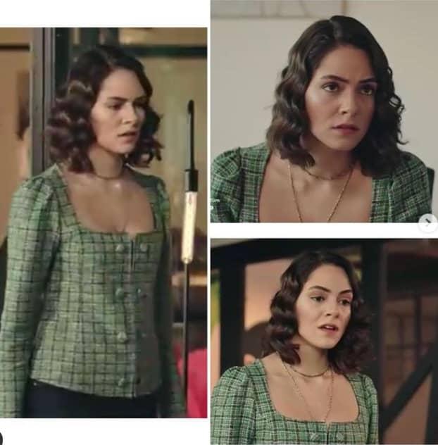 11 Şubat Akrep dizisinde Durunun giydiği yeşil elbise