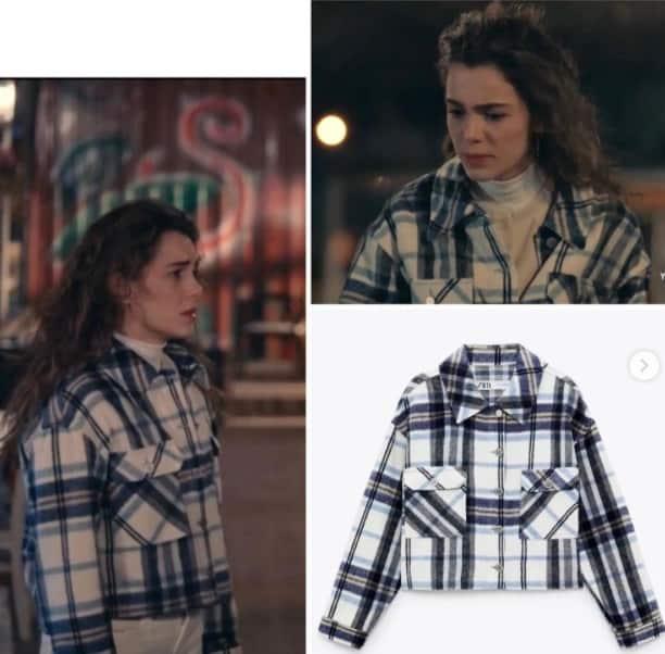 22 Ocak Son Yaz dizisinde Yağmurun giydiği kareli ceket