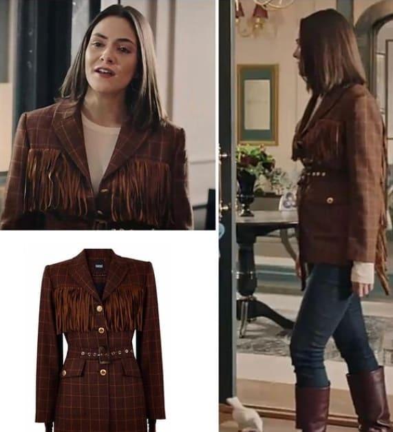 Akrep dizisi Duru'nun giydiği kahverengi ceket