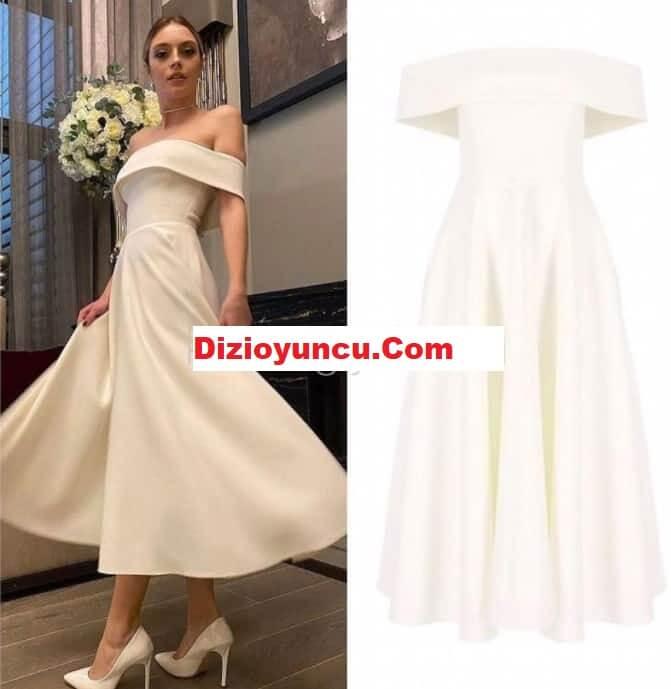 Sadakatsiz dizisi Derin'in partide giydiği beyaz elbise