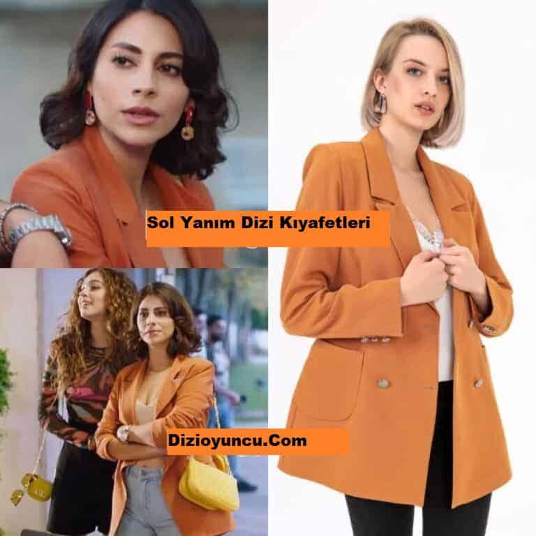 Sol Yanım Zeynep turuncu blazer ceket markası