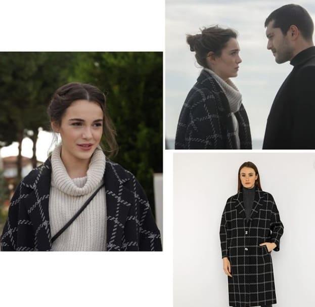 Son Yaz dizisi Yağmur'un giydiği kazak ceket kaban