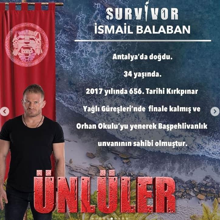 survivor 2021 ismail balaban