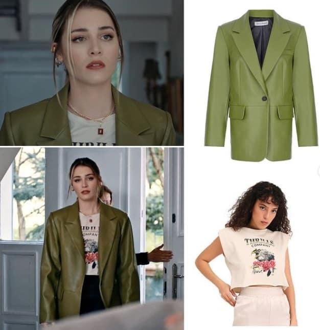 21 Nisan Masumiyet dizisi İrem'in yeşil ceketi
