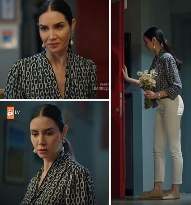 22 Mayıs Kardeşlerim dizisi Suzan'ın giydiği gömlek pantolon ayakkabı