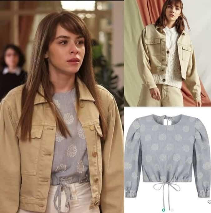 24 Mart Masumiyet dizisinde Ela'nın giydiği ceket bluz markası