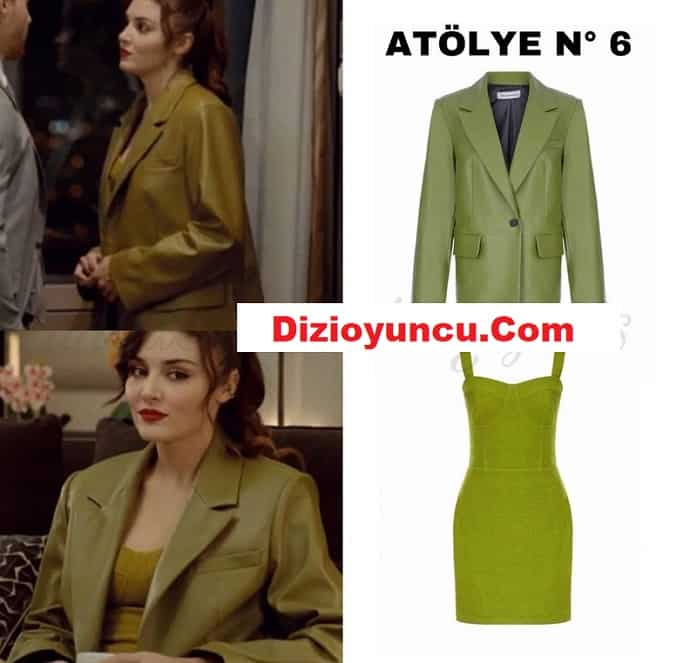 Hande Erçel'in Sen Çal Kapımı dizisinde giydiği ceket ve elbise