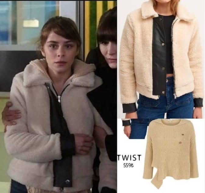 Masumiyet dizisi Ela'nın polar ceketi kazağı