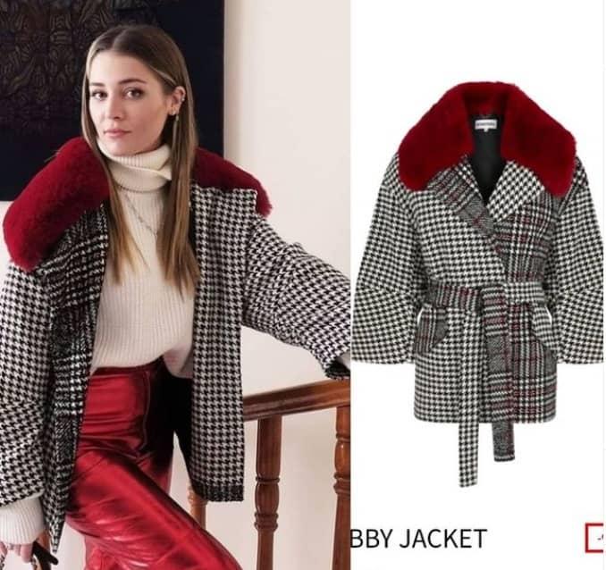 Masumiyet dizisinde Deniz Işın (İrem) giydiği ceket