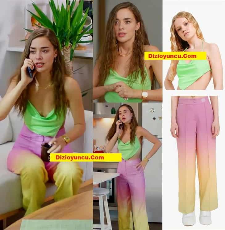 Cam Tavanlar 6. bölüm Leyla'nın giydiği üst ve pantolon