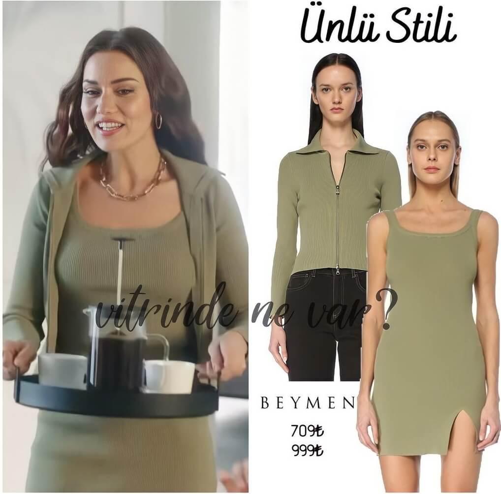 Fahriye Evcen reklam filmi kıyafeti elbisesi